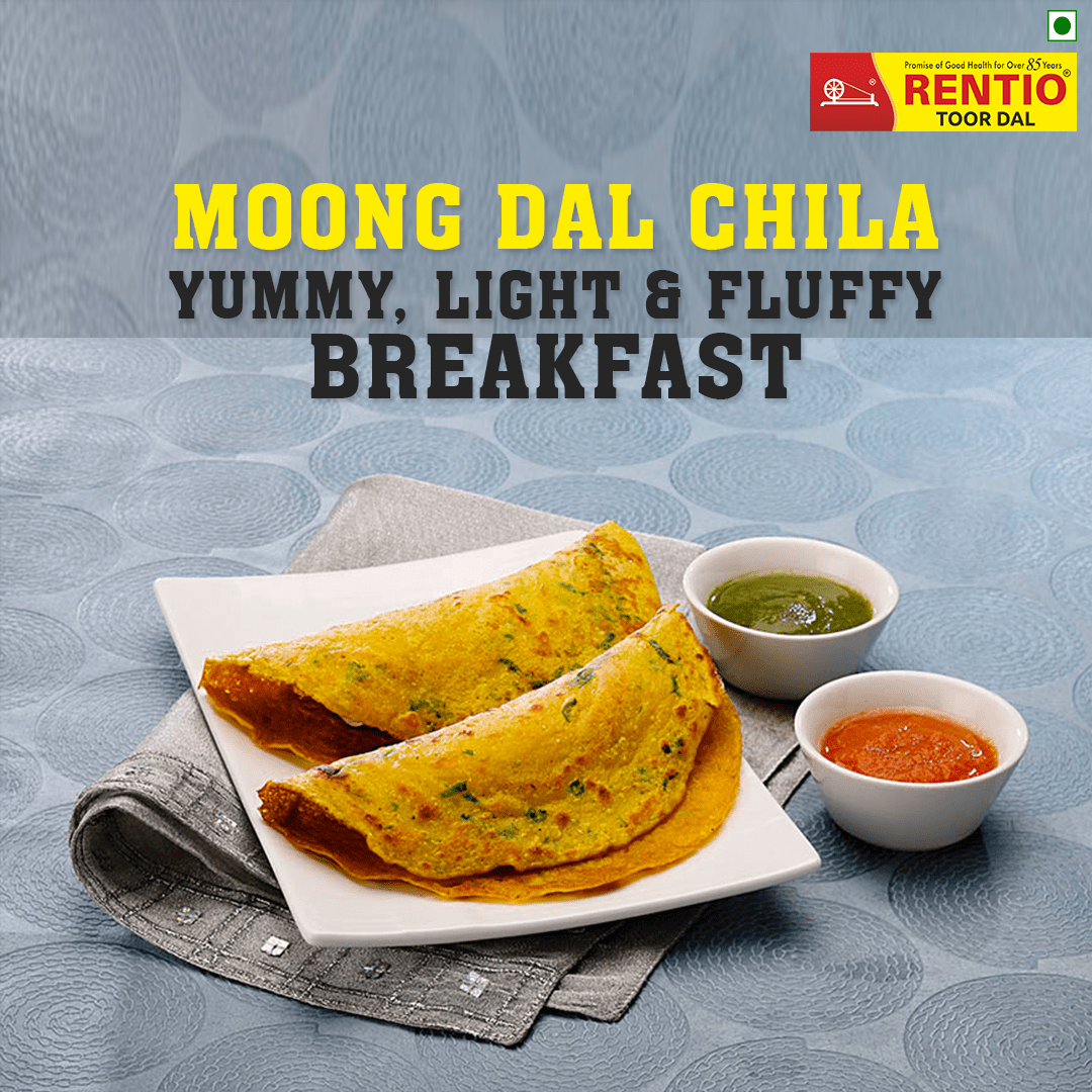 Moong Dal Chila - Rentio Toor Dal -